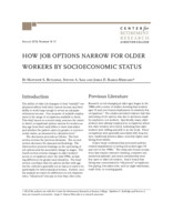 How job options narrow for older workers by socioeconomic status