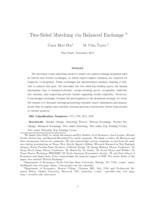 Two-sided matching via balanced exchange