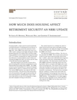 How much does housing affect retirement security? An NRRI update