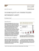 Is home equity an underutilized retirement asset?