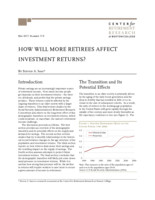 How will more retirees affect investment returns?