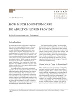 How much long-term care do adult children provide?