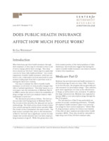 Does public health insurance affect how much people work?