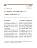 Do women still spend most of their lives married?