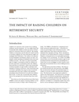 The  impact of raising children on retirement security