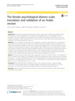 The  Kessler psychological distress scale