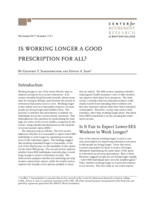 Is working longer a good prescription for all?