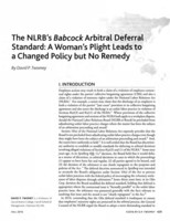 The  NLRB's Babcock arbitral deferral standard