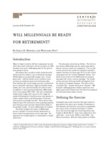 Will Millennials be ready for retirement?