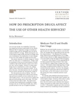 How do prescription drugs affect the use of other health services?