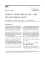 Do people with dementia get help managing their money?