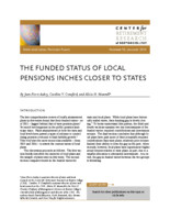 The  funded status of local pensions inches closer to states