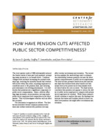 How have pension cuts affected public sector competitiveness?