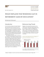 What explains the widening gap in retirement ages by education?