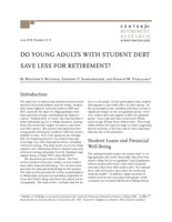 Do young adults with student debt save less for retirement?