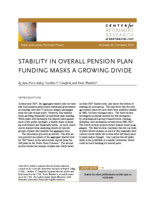 Stability in overall pension plan funding masks a growing divide