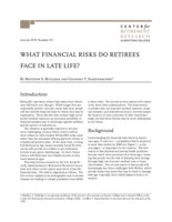 What financial risks do retirees face in late life?
