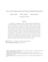 Free Trade Agreements with Environmental Standards