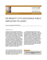 Do benefit cuts encourage public employees to leave?