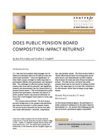 Does public pension board composition impact returns?