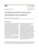 Are Social Security's actuarial adjustments still correct?