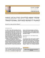 Have localities shifted away from traditional defined benefit plans?