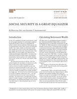 Social Security is a great equalizer