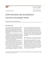 How exposed are retirement savings to market risk?