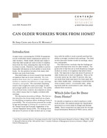 Can older workers work from home?