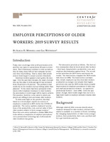 Employer perceptions of older workers