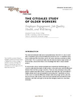 The Citisales study of older workers