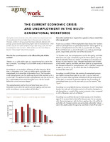 The current economic crisis and unemployment in the multi-generational workforce