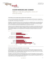 Older workers and gender