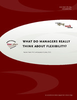 What do managers think about flexibility?
