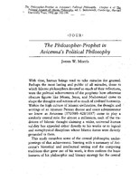 The philosopher-prophet in Avicenna's political philosophy