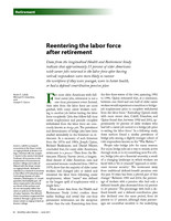 Reentering the labor force after retirement