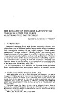 The legality of employee participation programs after the NLRB's Electromation Inc. decision