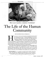 The life of the human community