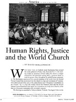 Human rights, justice, and the world church