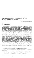 The Hammondtree challenge to the NLRB's deferral policy