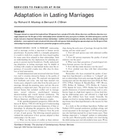 Adaptation in lasting marriages