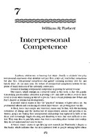 Interpersonal competence