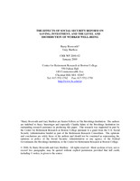 The effects of Social Security reform on saving, investment, and the level and distribution of worker well-being