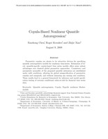 Copula-based nonlinear quantile autoregression