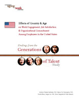 Effects of country & age on work engagement, job satisfaction & organizational commitment among employees in the United States