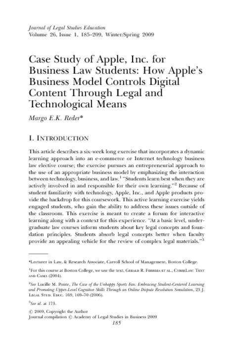 apple inc paper Apple inc company strategy case paper  give a brief introduction of the company, what their products/services are and how they make money their business model (note this intro needs to be brief, esp if this is the company everybody is familiar with) .