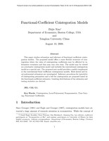 Functional-coefficient cointegration models