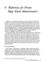 Reflections for private high school administrators