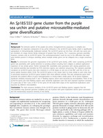 An Sp185/333 gene cluster from the purple sea urchin and putative microsatellite-mediated gene diversification