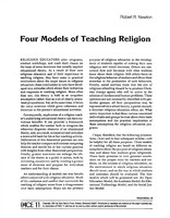 Four models of teaching religion